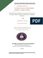Abhishek Saraff-05-Stock Futures on Spot Market Volatility
