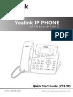 Yealink SIP-T21 E2 & T21P E2 Quick Start Guide V81 90