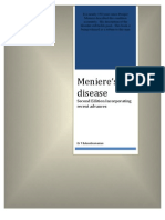 Meniere's Disease Second edition incorporating the recent advances