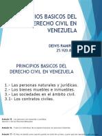 PRINCIPIOS BASICOS DEL DERECHO CIVIL EN VENEZUELA