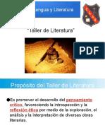PPT Unidad 1 Taller Literatura