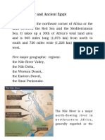 The Nile River and Ancient Egypt