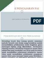 pertemuan 1 Metode Pengajaran PAI