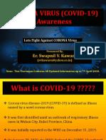 CORONA VIRUS Awareness by, Er. Swapnil v. Kaware