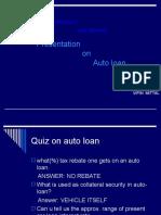 Auto Loan Ppt