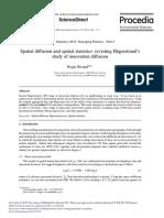 Spatial Diffusion and Spatial Statistics Revisting