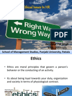 Ethical issues in HR