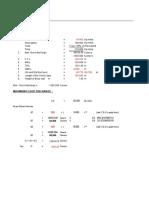 design of check dam .xls