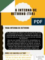 2.3 Metodo de la tasa interna de retorno (TIR)