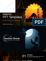 Islamic Mosque Sunset PowerPoint Templates.pptx