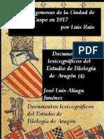 Colección de Voces Aragonesas de Caspe 1917