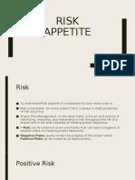Risk Appetite Presentation
