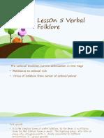 Less0n 5 Verbal Folklore