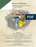 Pokemon 5e PHB - Gen I - VI.pdf