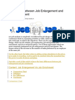 job enlargement and enric