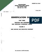 USAREUR Pam 30-60-1 1975 Identification Guide, Part Three Weapons and Equipment, East European Communist Armies Volume II, Mine Warfare and Demolition Equipment