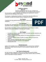 Beyond Automation - Company Profile