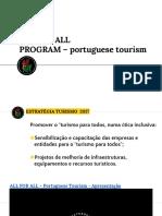 PPT  all for all - BTL 2018 - Serviços Turísticos