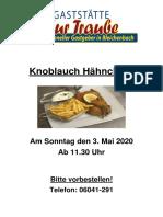 Knobi Hähnchen März 2020