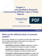 Ch. 2. Quantitative and Qualitative Research Understanding Different Types of Study Reports