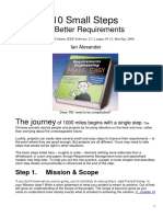 10 Steps for Requirements Engineering