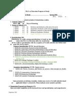 stacies program of study