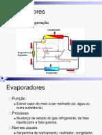 Evaporadores. Ciclo de refrigeração (2)