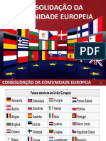 CONSOLIDAÇÃO DA EUROPA