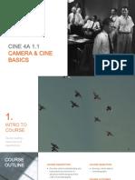 Cinematography 4A Presentation - Course intro & camera cine basics