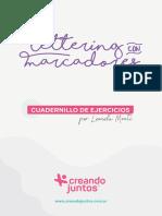 Lettering con Marcadores - Cuadernillo de Ejercicios