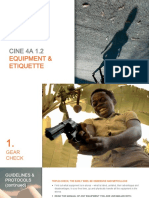 CINE4A 1.2. Lecture - Equipment Review & Shooting Etiquette