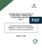 Nicolas Marileo INF-DCH-GEN-COD-INF-0049 Informe Mensual Monitoreo de Condiciones - Enero 2020 Rev0.doc