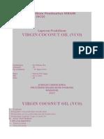 Laporan Praktikum Pembuatan VIRGIN COCONUT OIL