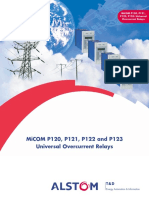 Alstom MiCOM P120, P121, P122 and P123 -Universal Overcurrent Relays
