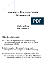 Welfare Implications of Waste Management