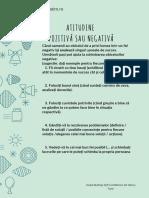 Atitudine Pozitiva Sau Negativa