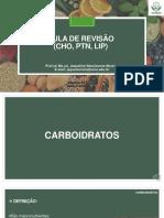 Aula 5 - Revisão CHO, PTN, LIP