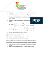 Lista de algebra linear nº 1
