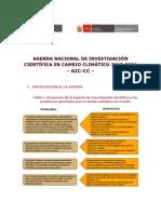 Agenda de Investigación Científica de Cambio Climático 2010-2021