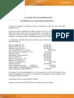 TALLER PRÁCTICO DECLARACIÓN DE RENTA Y MAPA CONCEPTUAL