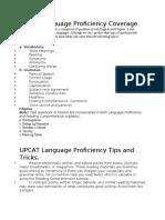 UPCAT Language Proficiency Coverage