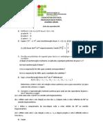 lista de algebra linear nº 4