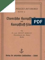 Chemische Kampfstoffe und Kampfstoff-Fibel von Ernst Bergin