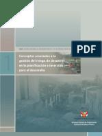 Conceptos asociados a la gestión del riesgo de desastres en la planificación e inversión para el desarrollo