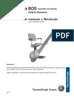 Manual de Instalação e Manutenção - CADEIRA CITIA