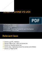 JOSEPH SHINE VS UOI ppt
