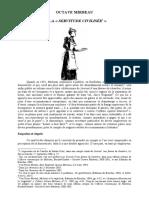 """Pierre Michel, « Octave Mirbeau et la """"servitude civilisée"""" »"""