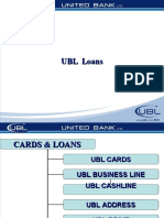 PressenTatIon of UBL (Loan)