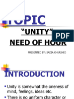 Presentation on Unity