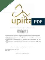 """UPIITA MECATRONICA 9 Comparación de la simulación y animación de un  robot """"R"""" y """"RR"""" (modelo dinamico)"""